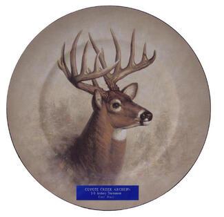 Round Deer Plate