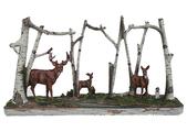 Deer Family in Birch Woods