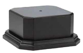 Ebony Matte Finish Solid Wood Base