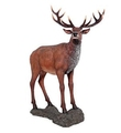 Red Deer Buck Statue