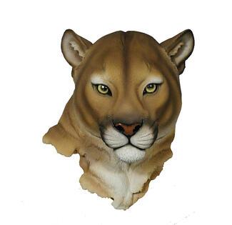 Mountain Lion Wall Trophy Head
