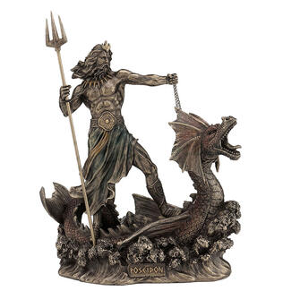 Poseidon with Trident Standing on Hippocampus