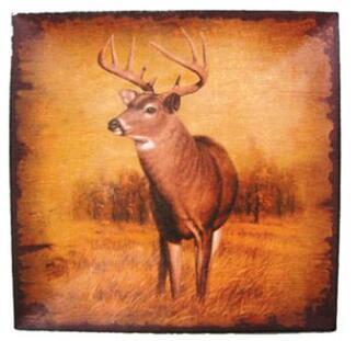 Square Deer Plate