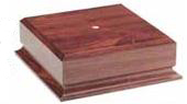 Cherry Finish Tall Wood Base