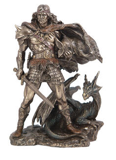 Viking Warrior with Dragon